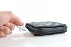 Cattura dei soldi dal raccoglitore Immagine Stock