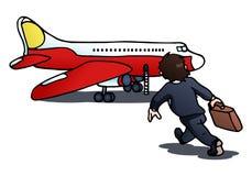 Cattura dell'aereo su bianco isolato Fotografie Stock Libere da Diritti