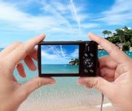 Cattura della foto della spiaggia Immagine Stock Libera da Diritti