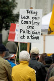 Cattura indietro del nostro paese! Immagine Stock
