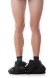 Catturato con i pantaloni giù Immagini Stock