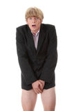 Catturato con i pantaloni giù Fotografia Stock Libera da Diritti