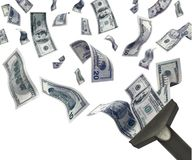 Catturi i soldi illustrazione di stock