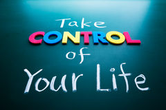 Catturi il controllo del vostro concetto di vita Fotografia Stock Libera da Diritti
