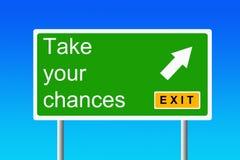 Catturi le vostre probabilità Immagini Stock