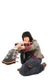 Catturi una chitarra Fotografia Stock