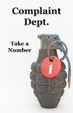 Catturi una granata a mano di numero Immagine Stock