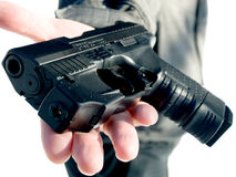 Catturi una pistola! Fotografia Stock