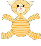 Catty stuffed tabby cat stock images