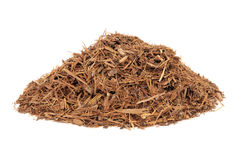 Catuaba Bark Herb. Used in natural alternative herbal medicine over white background. Used as an aphrodisiac to increase libido stock photos