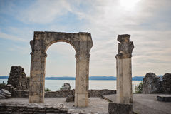 Catullus Caves in Sirmione. On Garda Lake, Italy Royalty Free Stock Image