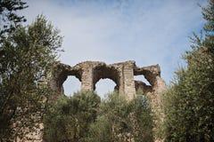 Catullus-Höhlen in Sirmione Lizenzfreie Stockfotos