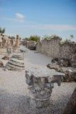 Catullus-Höhlen in Sirmione Stockbild