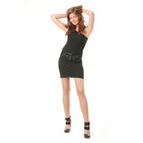 Catwalk fashion model Royalty Free Stock Photo