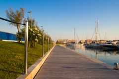 Catwalk near the Port. Shoot with canon 5d iii in Italy Royalty Free Stock Photos