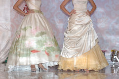 Catwalk show. Wedding dress catwalk show Royalty Free Stock Images