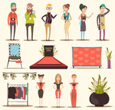 Catwalk Show Elements Collection Royalty Free Stock Images