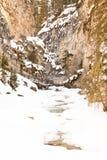 Catwalk trail between cliffs at Banff. Royalty Free Stock Image