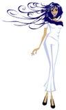 catwalkkvinnligmodell Royaltyfri Fotografi