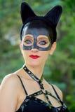catwoman cosplay 库存照片