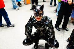 Catwoman Cosplayer σε 2017 NYCC Στοκ εικόνες με δικαίωμα ελεύθερης χρήσης
