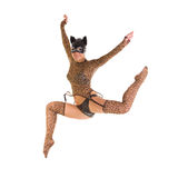 Catwoman jumping Royalty Free Stock Photography