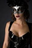 Catwoman Karneval Lizenzfreie Stockfotos