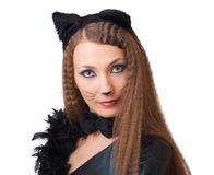 Catwoman portrait. Royalty Free Stock Images