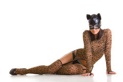 Catwoman posing Stock Photos