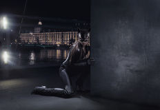Catwoman stupefacente Fotografia Stock Libera da Diritti