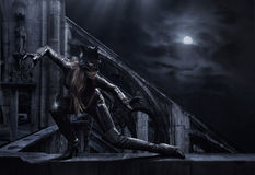 Catwoman surpreendente Fotografia de Stock Royalty Free