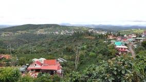 Cau Dat stad, Da-Latstad, Lam Dong landskap, Vietnam arkivfilmer
