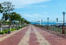 Cau Thuan Phuroc Bridge Danang City, Vietname maio de 2016 fotos de stock royalty free