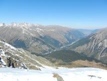 Caucas Dombay Väg till Nalchik Fotografering för Bildbyråer