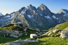 Caucase dans le matin images stock