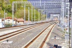 caucase Sotchi Voie de chemin de fer Images libres de droits