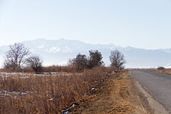 Caucasia: road steppe mountains Royalty Free Stock Images