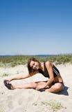 caucasian övningsflicka Fotografering för Bildbyråer