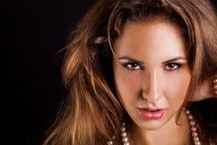 Caucasian adult woman looking at camera Royalty Free Stock Image