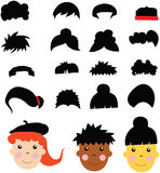 Caucasian, African and Asian Kids Royalty Free Stock Images