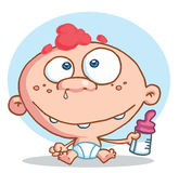Caucasian baby Stock Images