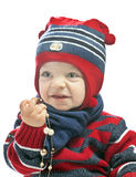 Caucasian baby boy in a cap Stock Image