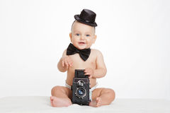Caucasian baby boy Royalty Free Stock Photography