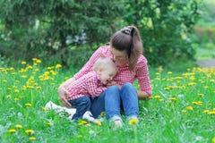 Caucasian baby boy take rest Stock Image