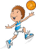 Caucasian Basketball Player Stock Image