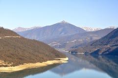 Caucasian berg, Georgia Arkivfoto