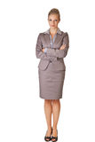 Caucasian blond businesswoman in suit Stock Photography