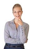 Caucasian blond businesswoman in suit Stock Image