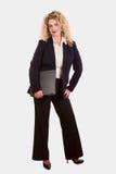 Caucasian blonde business woman Stock Image