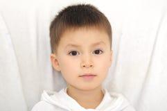 Caucasian boy portrait direct looking Stock Photo